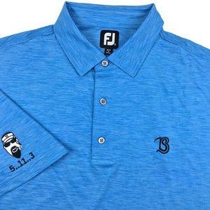 Footjoy Golf Short Sleeve Blue Polo Shirt XXXL 3XL